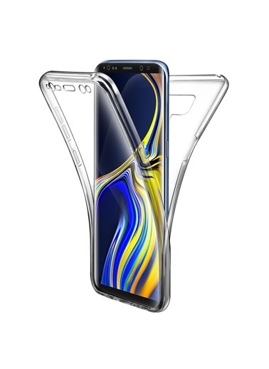 Microsonic Samsung Galaxy Note 9 Kılıf 6 tarafı tam full koruma 360 Clear Soft  Renksiz